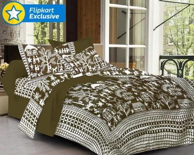 Adithya Cotton Printed Double Bedsheet