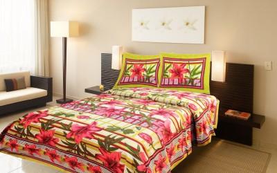 Samradhi Cotton Floral Double Bedsheet