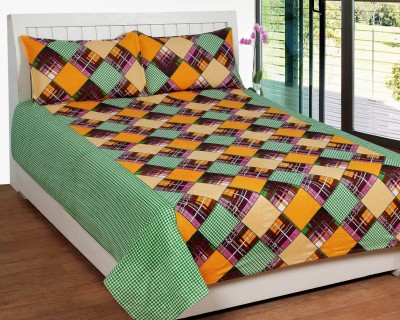 Bed & Bath Cotton Abstract Queen sized Double Bedsheet