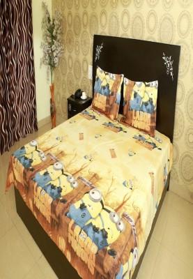 Shopcrats Polycotton Cartoon Double Bedsheet