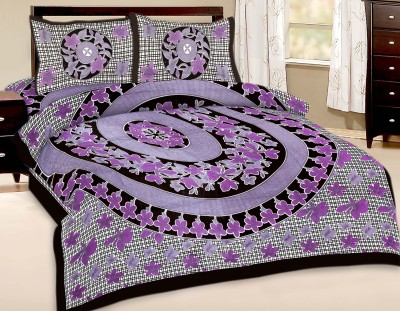 Artisan Creation Cotton Floral Double Bedsheet