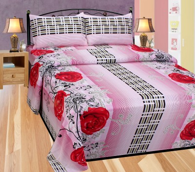 Balaji Texo Fab Cotton Floral Queen sized Double Bedsheet
