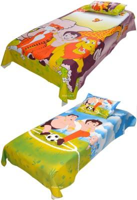 Indian Rack Cotton Cartoon Single Bedsheet
