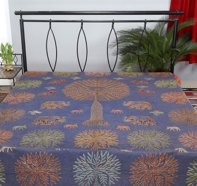 Rajrang Cotton Abstract Double Bedsheet