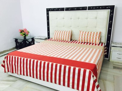 Reliable Trends Cotton Self Design Double Bedsheet