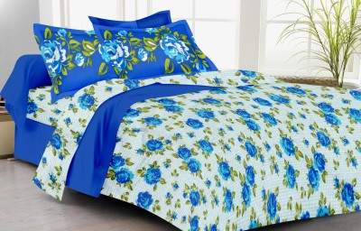 LISSOME Polycotton Floral Double Bedsheet