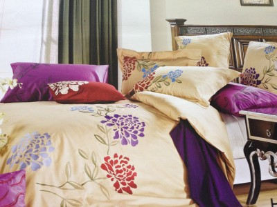 Tima Cotton Embroidered King sized Double Bedsheet