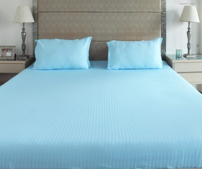 The Cotton Company Cotton Striped King sized Double Bedsheet