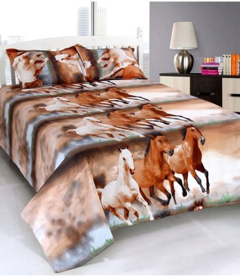 Wonder Home Collection Polyester Printed Double Bedsheet