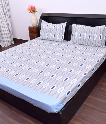 Kaaj Designs Cotton Polka Double Bedsheet
