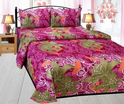 MAD DECOR HOUSE Polyester 3D Printed Double Bedsheet