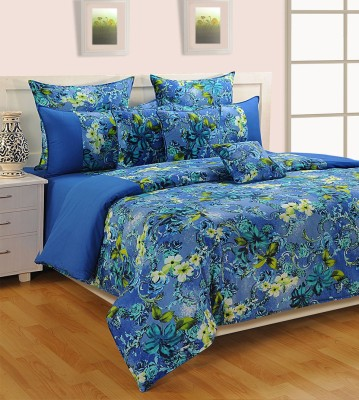 Swayam Cotton Abstract King sized Double Bedsheet