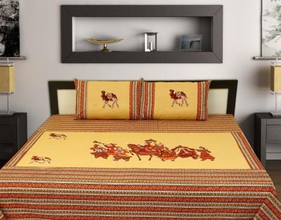 ahmedabadprint Cotton Text Print Double Bedsheet