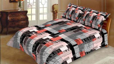 Blush Cotton Abstract King sized Double Bedsheet