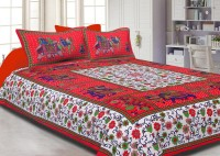JaipurFabric Cotton Printed Double Bedsheet(Quantity: Set of 3 Pieces (1 Double Bed Sheet + 2 Pillow Covers), Multicolor) best price on Flipkart @ Rs. 849
