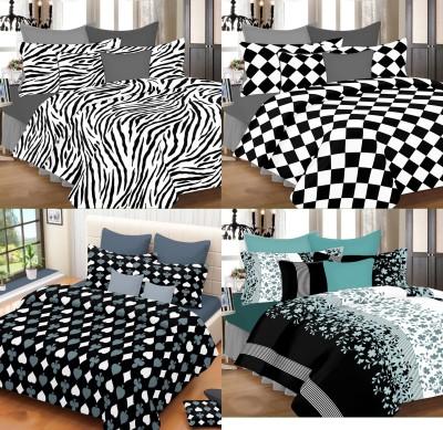 PrintStar Cotton Geometric Double Bedsheet