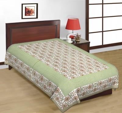 Cotton Floral Single Bedsheet
