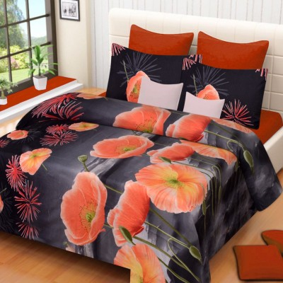 Home Elite Polyester Floral Double Bedsheet