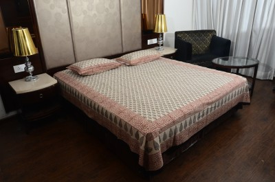 Touch Feel Cotton Motifs Queen sized Double Bedsheet