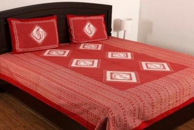 N decor Cotton Floral Double Bedsheet