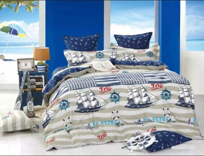 Zigma Collections Cotton Printed King sized Double Bedsheet
