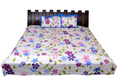 NATHI AND NANCY Cotton Silk Blend Floral Double Bedsheet