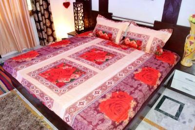 Hashcart Cotton Printed Double Bedsheet
