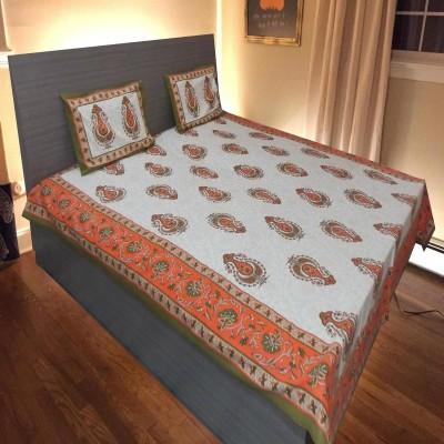 tathyaa creations Cotton Abstract Double Bedsheet