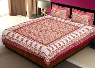 Avon Apparels Cotton Paisley Double Bedsheet
