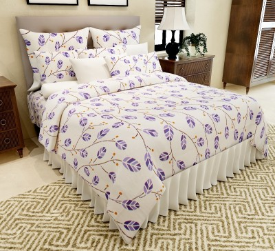 Amethyst Cotton Floral Double Bedsheet