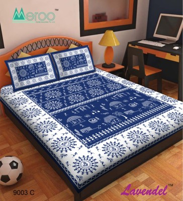 Lavendel Cotton Printed Double Bedsheet