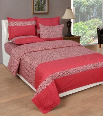 NIRWANA Polycotton Polka Double Bedsheet
