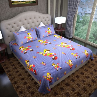 Graffiti Home Cotton Printed Queen sized Double Bedsheet
