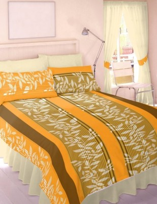 Splash Polycotton Printed Double Bedsheet