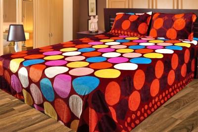 Gopani Dispatchers Polyester Silk Blend Geometric Double Bedsheet