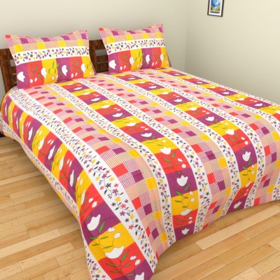 Fresh From Loom Cotton Geometric Double Bedsheet