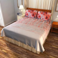 Portico New York Cotton Printed Double Bedsheet(1 Double Bed Sheet With 2 Pillow Cover, Multicolor) best price on Flipkart @ Rs. 2199