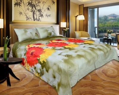 El Sandalo Polyester Printed Double Bedsheet