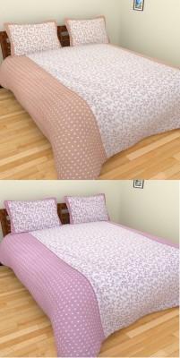 Click Shoppe Cotton Floral King sized Double Bedsheet