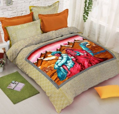 ala mode Polycotton Printed Double Bedsheet