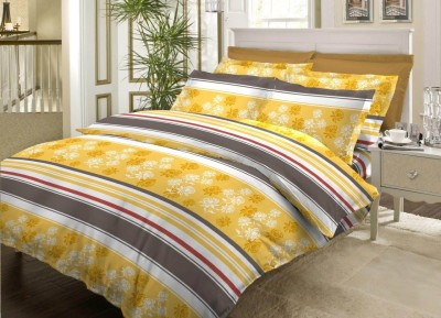 Bombay Dyeing Cotton Striped Double Bedsheet