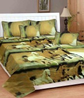 MEHAR HOME Cotton 3D Printed Double Bedsheet(1 DOUBLE BED SHEET WITH TWO PILLOW COVER, Multicolor) best price on Flipkart @ Rs. 399