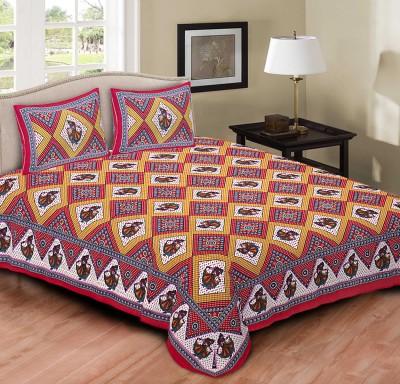 BUL PRINTS Cotton Printed Double Bedsheet