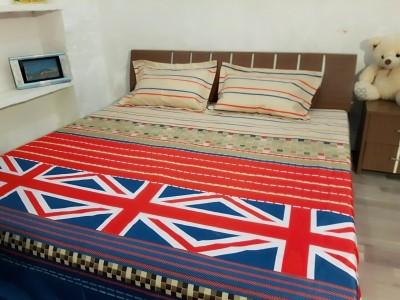 GARIMA 3 STAR Polycotton Abstract Double Bedsheet((1 bedsheet), (2 pillow cover), multipal) at flipkart