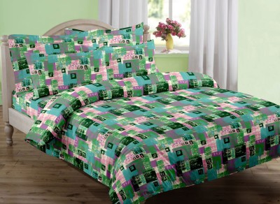 Swaas Cotton Abstract Single Bedsheet