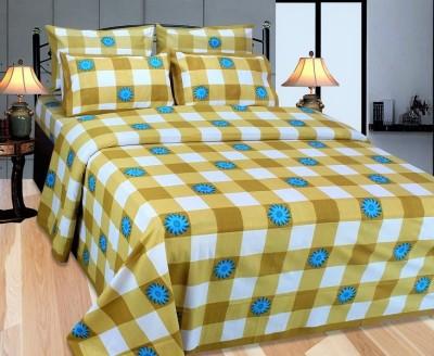 Needdle Cotton Geometric Double Bedsheet