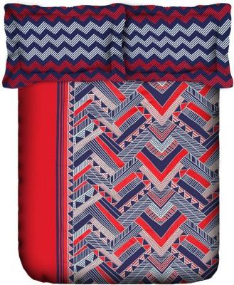 Bichauna by Portico Cotton Linen Blend Geometric Double Bedsheet
