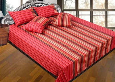 Best Craft Cotton Striped Double Bedsheet