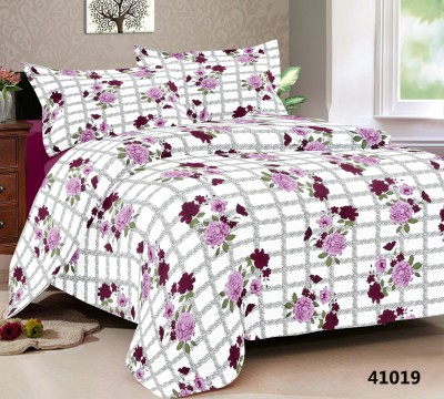Double A Creation Cotton Floral King sized Double Bedsheet