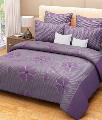 Brabuon Cotton Floral Double Bedsheet